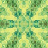 Vector Green Triangle Background