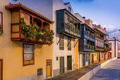 Balcony street at Santa-Cruz de La Palma