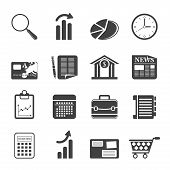 Silhouette Business and Office Internet Icons