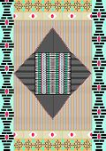 Tribal print,border pattern with stripe,aztec,ethnic .