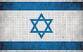 Mosaic flag of Israel