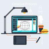 Creative process of designer concept