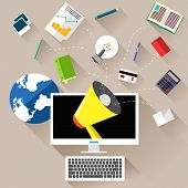 Marketing work tools concept