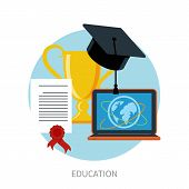 picture of online education  - Concept for online education - JPG