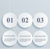 Abstract numeric circles infographic. Hanging banner