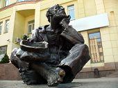 Monument Of Beggar Man In Chelyabinsk