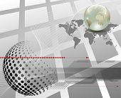 3d business abstract background