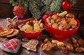 Christmas Cookies And Nuts Assortment