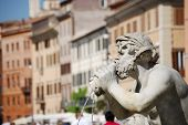 Fontana del Moro in Piazza Navona. Rome, Italy