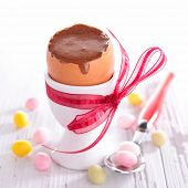 easter chocolate mousse