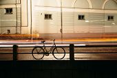 Bicycling in the night city