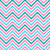 Cute tribal zig zag seamless pattern. Vector illustration