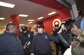 NYPD blocks entrance to Target store