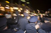 NYPD officers swarm activists