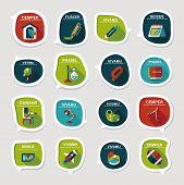 School Bubble Speech Banner Design Flat Background Set, Eps10