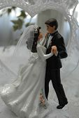 Dancing Bride & Groom Wedding Cake Topper