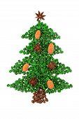 Green Coffee Christmas Tree