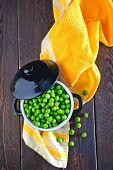 pic of green pea  - green peas in bowl and on a table - JPG