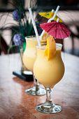 Fresh Fruit Mango Shake In Glass