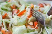 Vegetables Salad With Cucumbers And Tomatoes