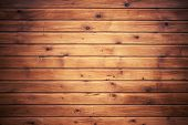picture of uncolored  - Background texture of natural uncolored wooden wall made of lining boards - JPG