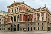 stock photo of orchestra  - The Wiener Musikverein is a concert hall in the Innere Stadt borough of Vienna Austria - JPG