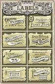 Set Of Vintage Clothing Labels