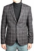 Woolen Suit Jacket Into The Cell  In Combination With Jeans