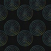 Abstract seamless background made of rings
