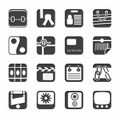 Silhouette Business and Internet Icons