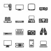 Silhouette Hi-tech equipment icons