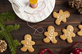 Gingerbread Man. Place Card Cookies