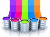 Paint, Five Bright Colors