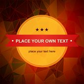 Abstract vector geometric background in warm colors.