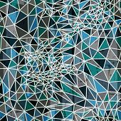 Vector abstract geometric seamless pattern from polygons.