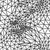 Vector abstract black and white seamless background from triangl