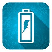 image of accumulative  - battery flat icon - JPG