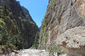 picture of samaria  - Crete island in Greece - JPG
