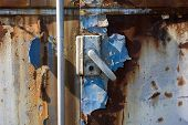 foto of passenger train  - Old and abandoned passenger train wagon detail - JPG