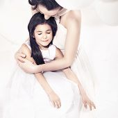 pic of mother-of-pearl  - Beautiful mother and  daughter - JPG