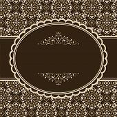 foto of damask  - Frame on seamless damask background - JPG