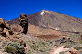stock photo of canary  - View of the volcano Teide in the national Park on the island of Tenerife Canary Islands Spain - JPG