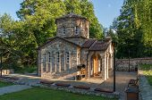 picture of macedonia  - Beautiful chapel in Macedonia near Ohrid lake - JPG