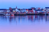 foto of reining  - Reine fishing village in Lofoten Islands - JPG