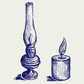 picture of kerosene lamp  - Kerosene lamp - JPG