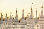 pic of buddhist  - Kuthodaw Pagoda is a Buddhist stupa located in Mandalay Burma  - JPG