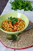 picture of chickpea  - Chickpea stew with vegetables - JPG