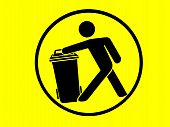 Sign of trash bin/ recycle bin symbol