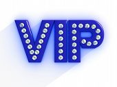 picture of precious stone  - Black letters VIP inlaid with precious stones yellow on a white background - JPG