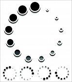 foto of indications  - Round preloader buffer shape circular progress indicator - JPG